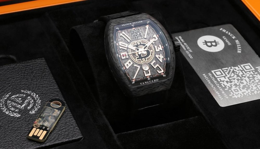 Franck Muller Carbon Bitcoin Watch